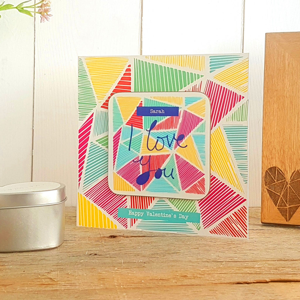 Vicky Yorke Valentine's Greeting Card Coaster