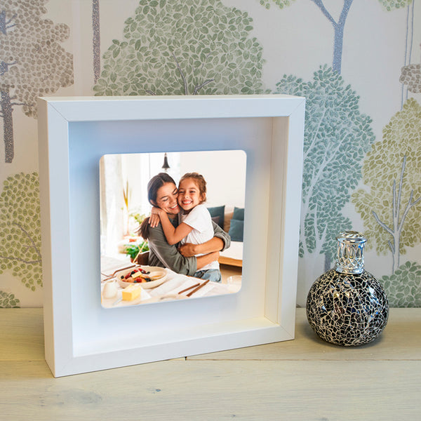 Photo Upload Floating Metal Box Frame