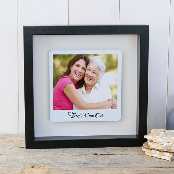 Best Mum Ever Box Frame Personalised Mother's Day Photo Gift - Black Frame