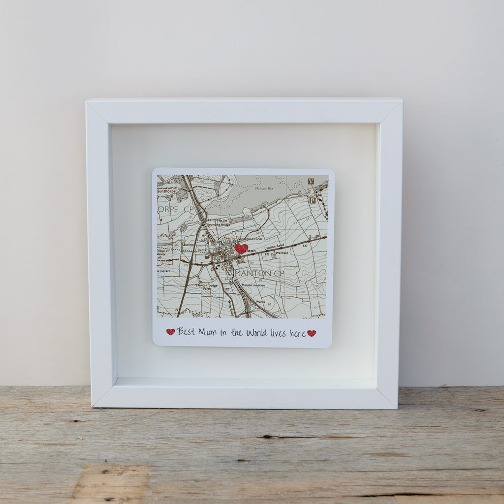 Best Mum / Dad in The World Lives Here Box Frame