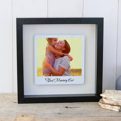 Best Mummy Ever Box Frame Personalised Mother's Day Photo Gift - Black Frame