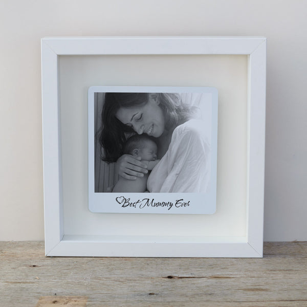 Best Mummy Ever Box Frame Personalised Mother's Day Photo Gift - White Frame