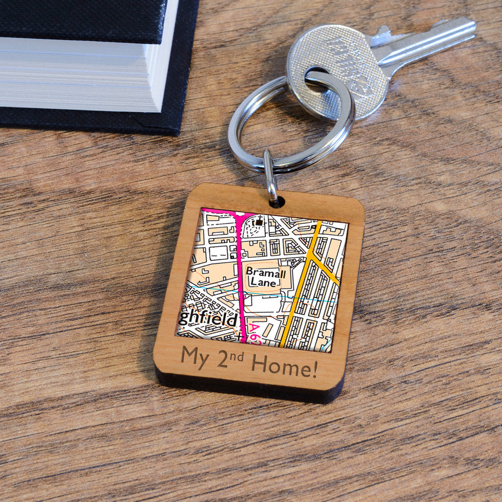 Wooden Key Ring - Bramall Lane