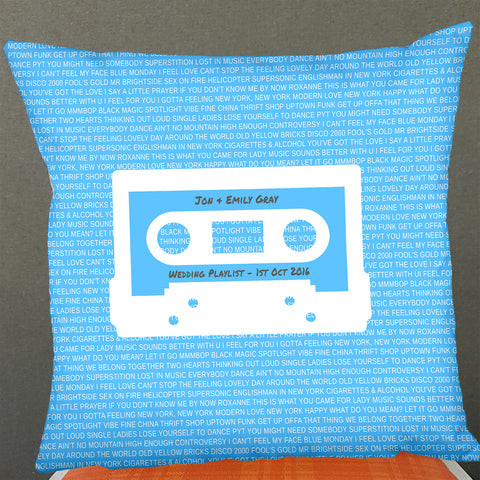 Mixtape Cassette Personalised Cushion