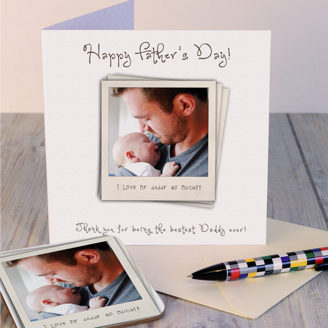 Happy Father's Day Instant Photo Coaster Card
