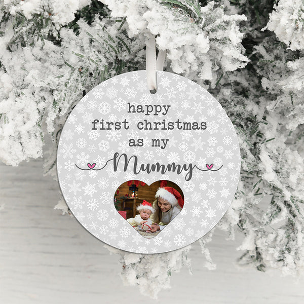 Mummy's First Christmas Photo Upload Hanging Decoration