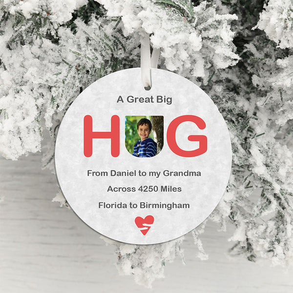 A Great Big Hug Across the Miles Card with Decoration
