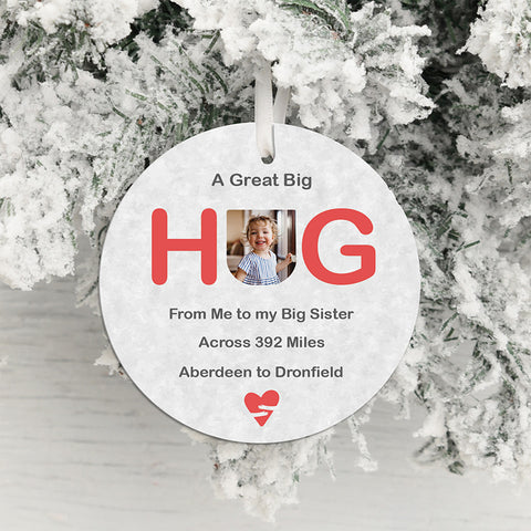 A Great Big Hug Across the Miles Hanging Decoration