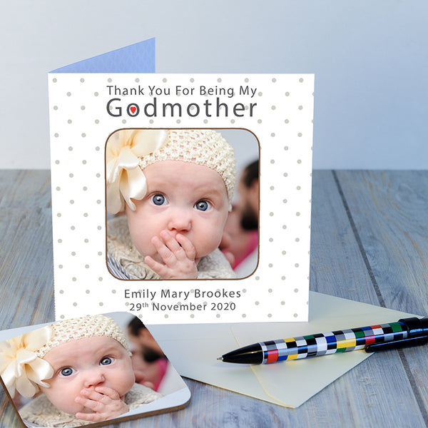 Godparents Coaster Card