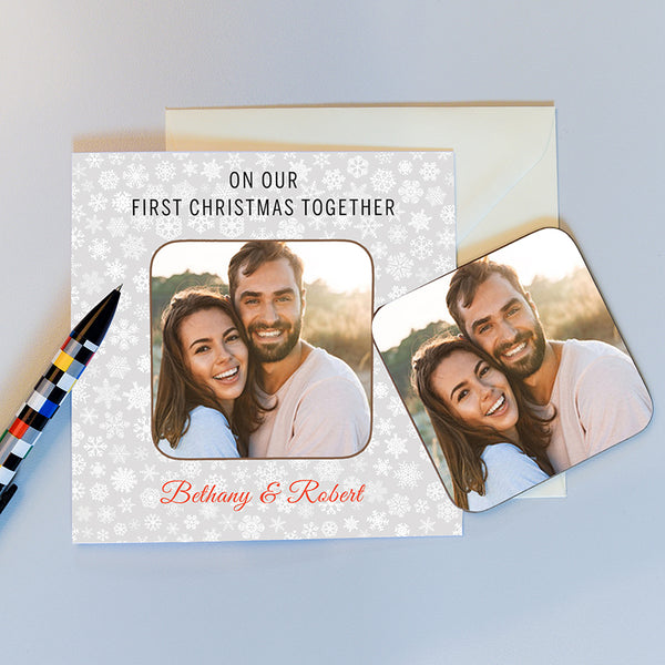 On Our First Christmas Together Coaster Card