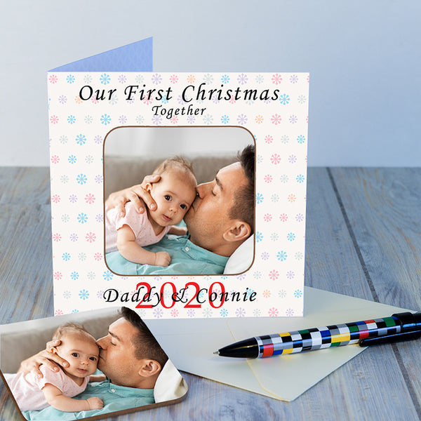 First Christmas Together Coaster Card