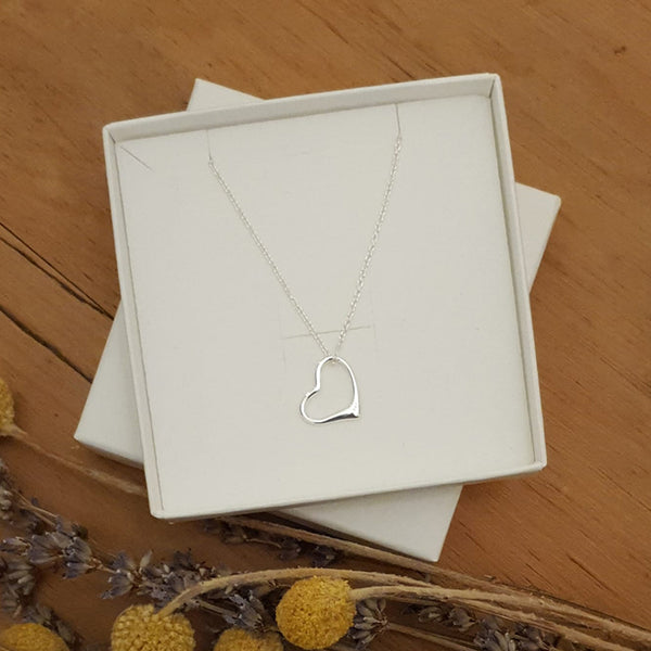Mum Sterling Silver Heart Pendant and Chain