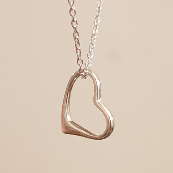 Love Sterling Silver Heart Pendant and Chain