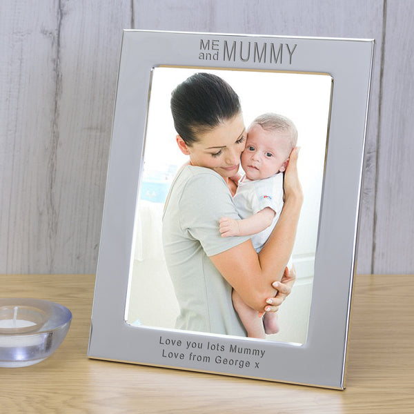 """Me And Mummy"" Engraved Silver Photo Frame"