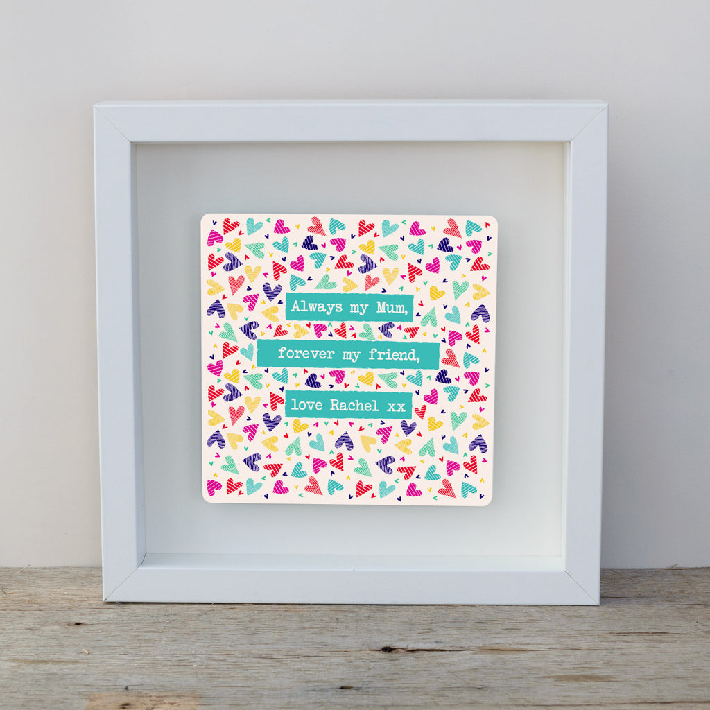 Special Message for Mum Confetti Hearts Box Frame | with love from ...
