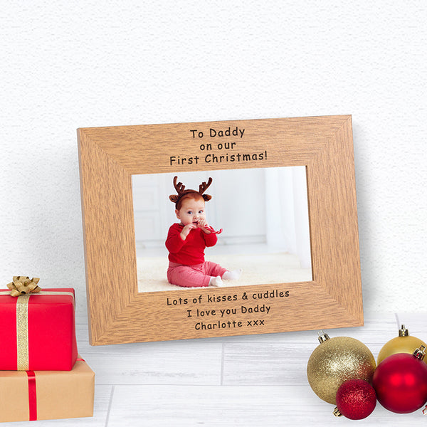 Our First Christmas Daddy Photo Frame