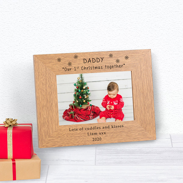 Daddy's First Christmas Photo Frame