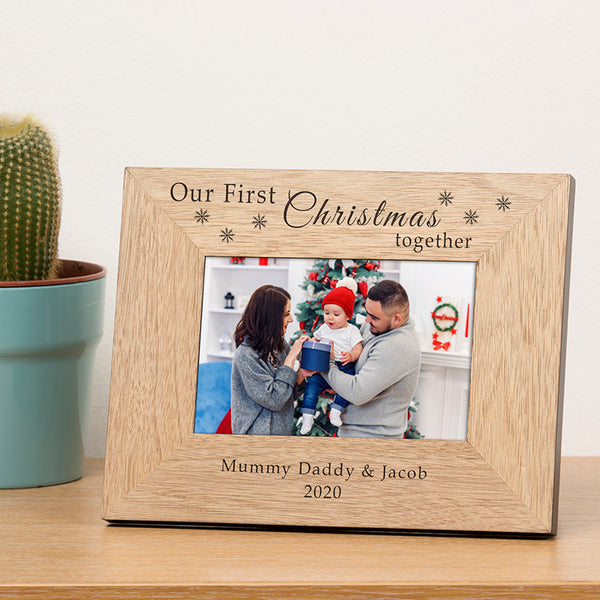 Our First Christmas Together Photo Frame
