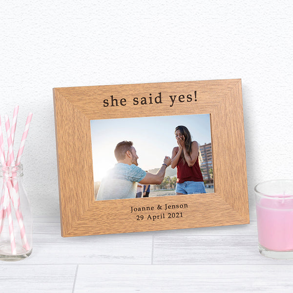 She Said Yes Photo Frame