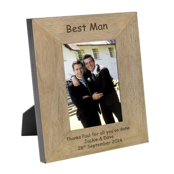 Wedding Party Engraved Wooden Frame