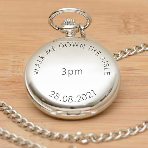 Walk Me Down the Aisle Pocket Watch