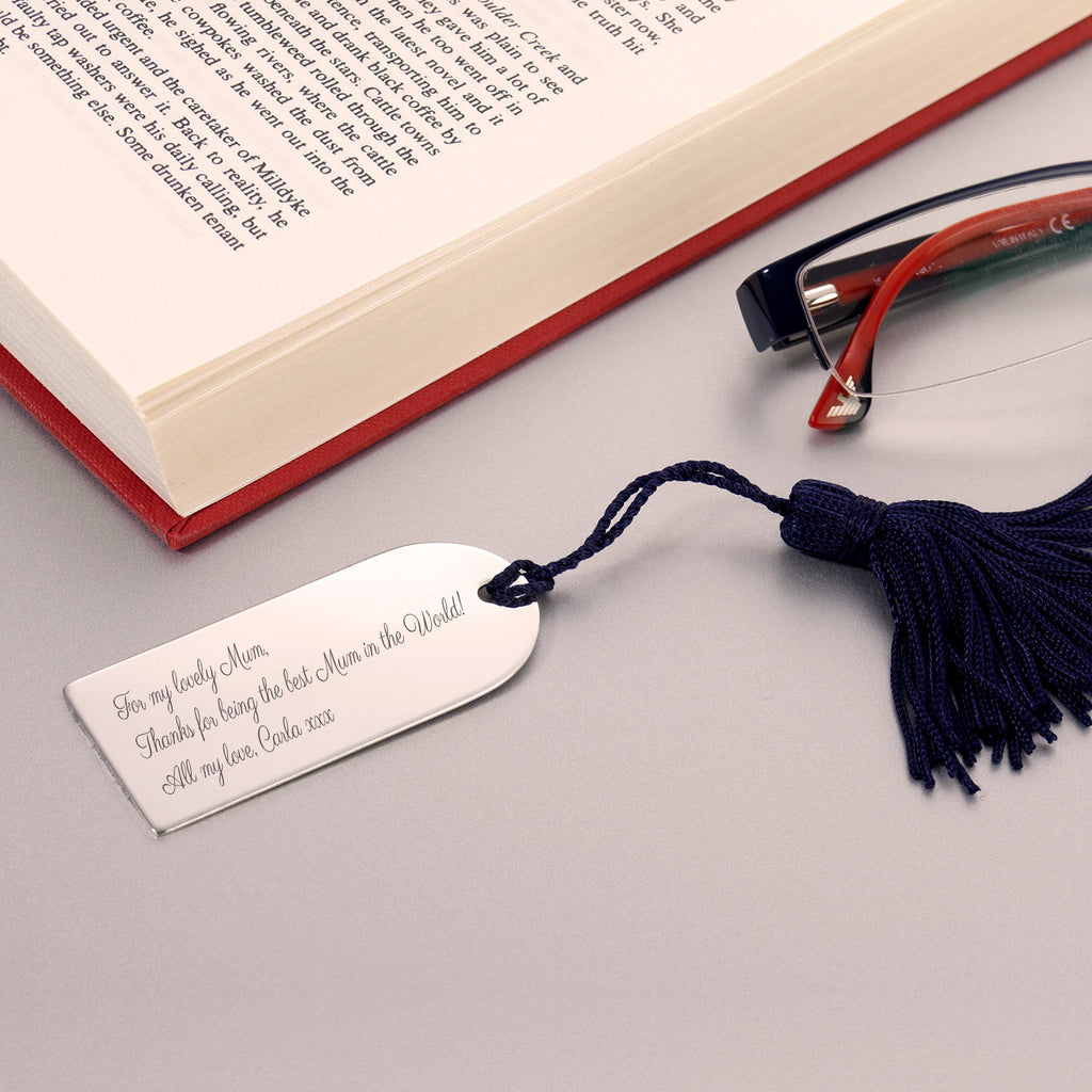 Engraved Silverplated Arch Bookmark Gift for Book Lovers
