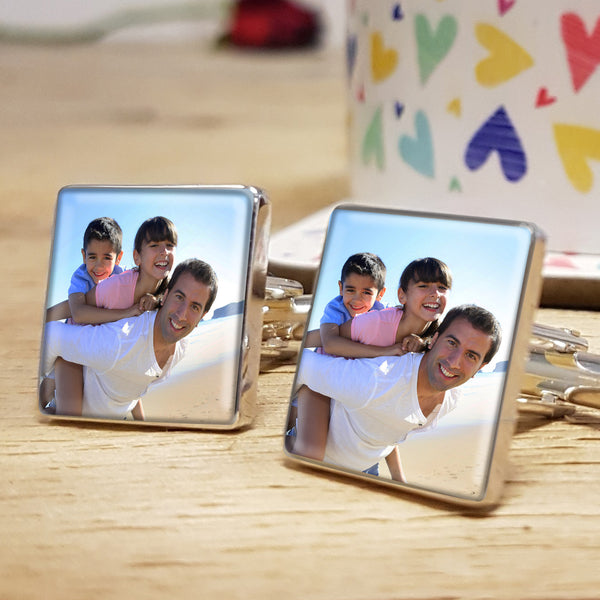 Photo Upload Cufflinks Personalised Fathers Day Gift