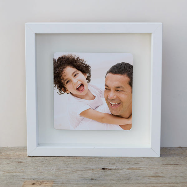 Photo Upload Box frame wall art gift - white frame colour photo 2