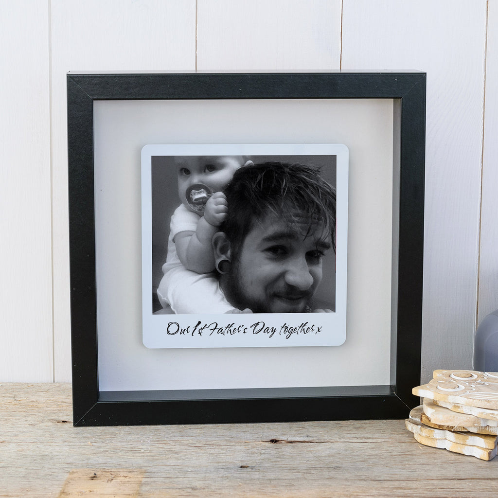 First Fathers Day Box Frame Personalised Fathers Day Gift