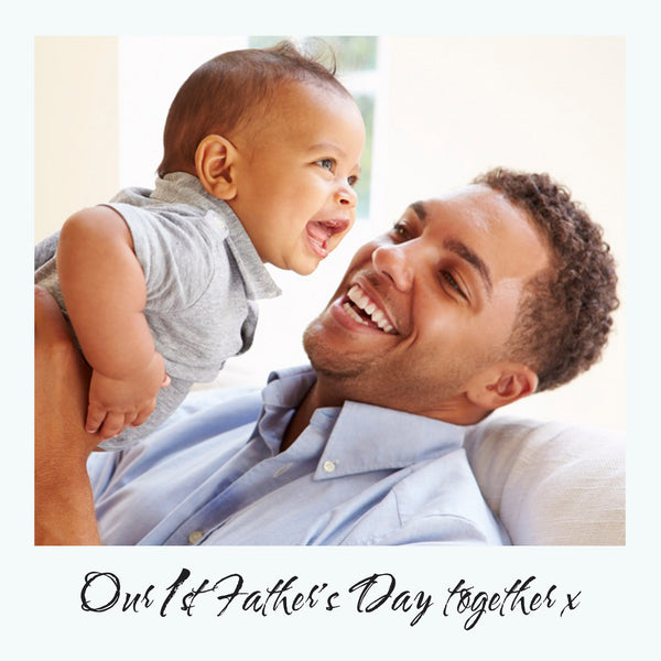 First father's day together photo gift box frame - father's day gift ideas - aluminium plate detail