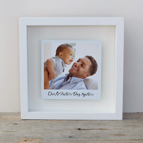 First father's day together photo gift box frame - father's day gift ideas