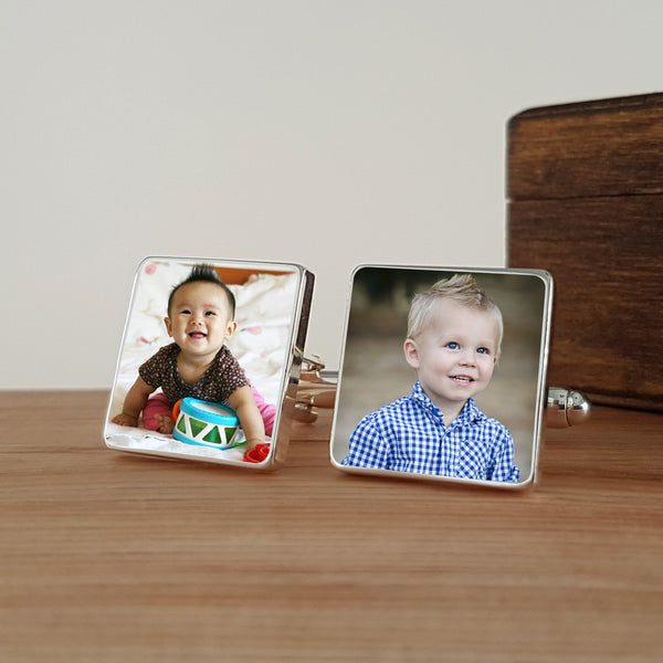 Photo Upload Cufflinks (Square)