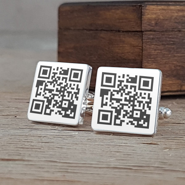 Secret Message QR Cufflinks