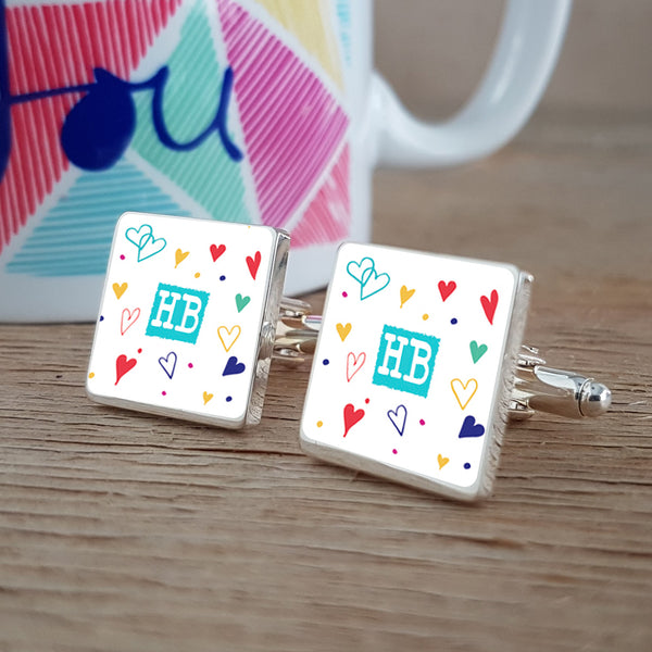 Vicky Yorke Cute Hearts Cufflinks
