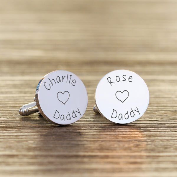 Loves Daddy Cufflinks - Round