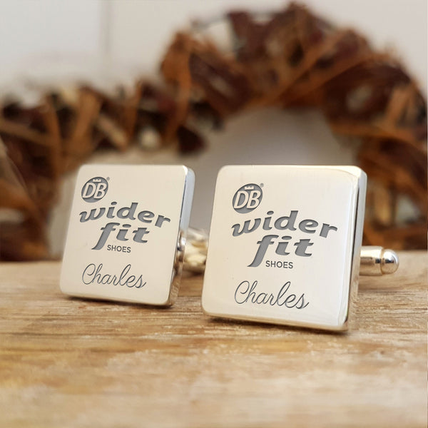 Upload your own design engraved cufflinks - logo