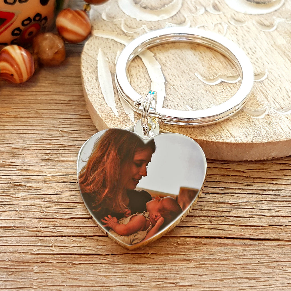 Photo Heart Keyring