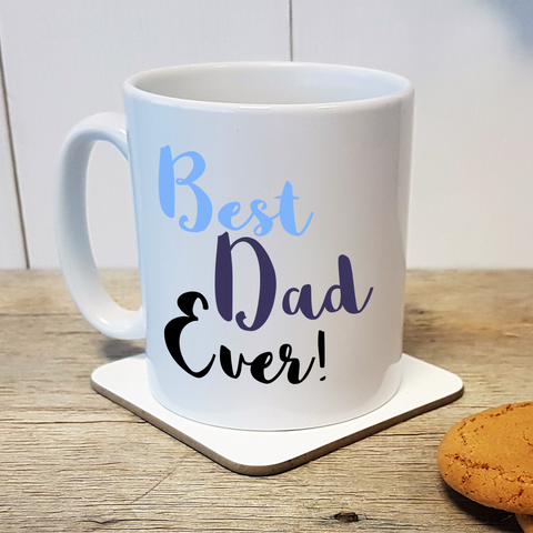 Best Dad Ever personalised Father's Day or Birthday gift mug - front