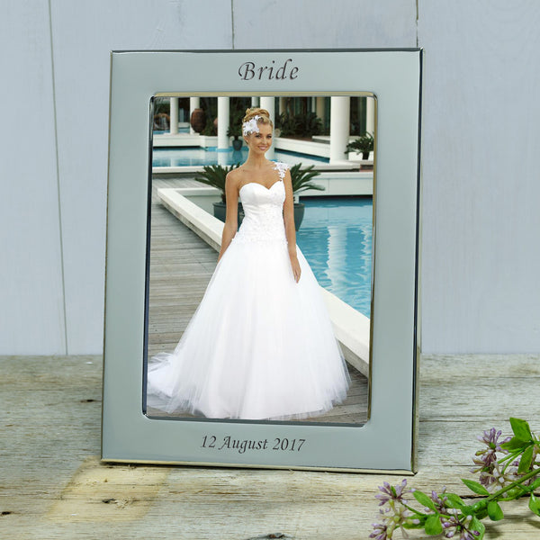 Wedding Party Engraved Silver Frame