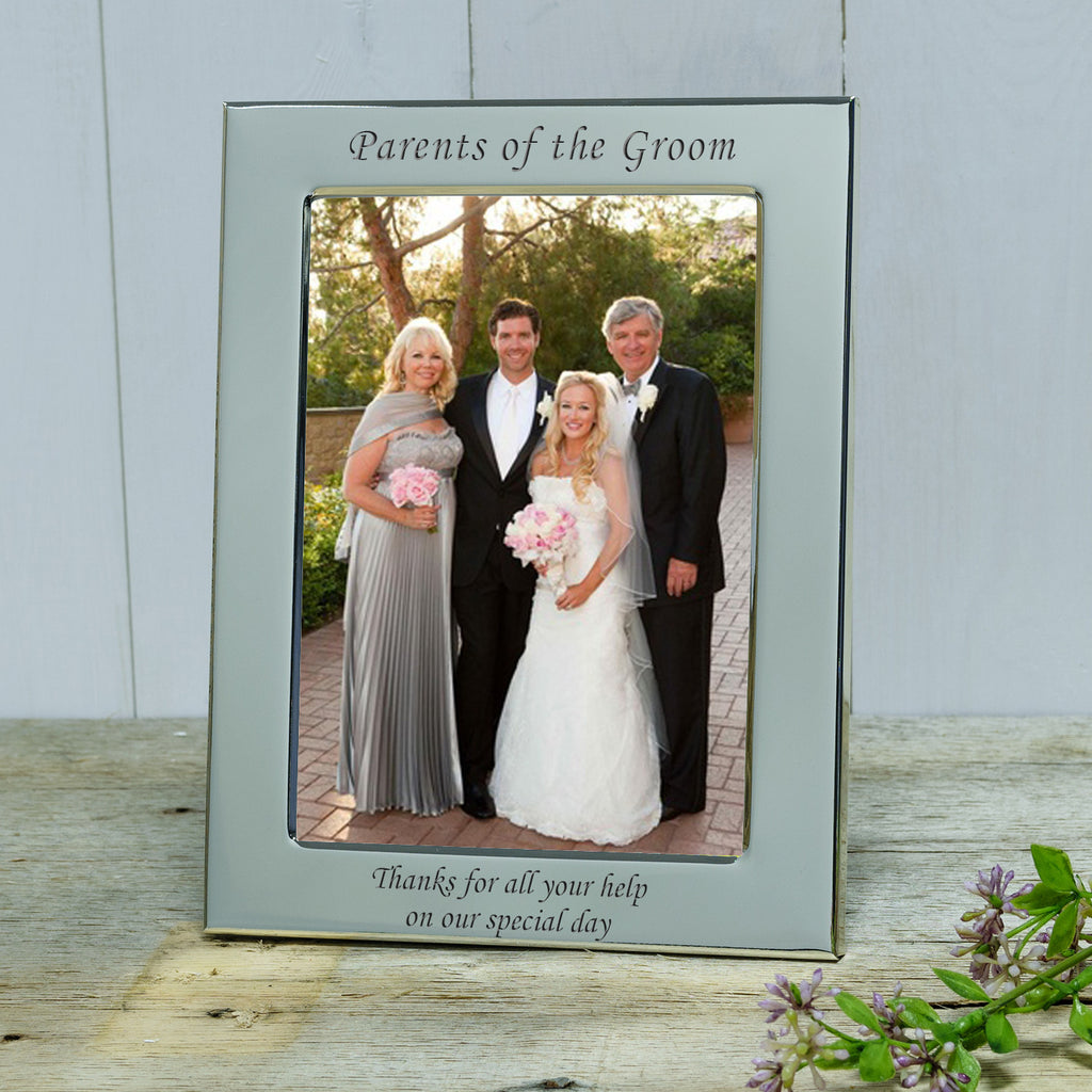 Parents Of The Bride And Groom Engraved Silver Photograph