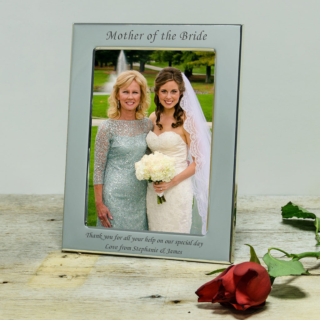 Parents of the Bride and Groom Engraved Silver Photograph Frame ...