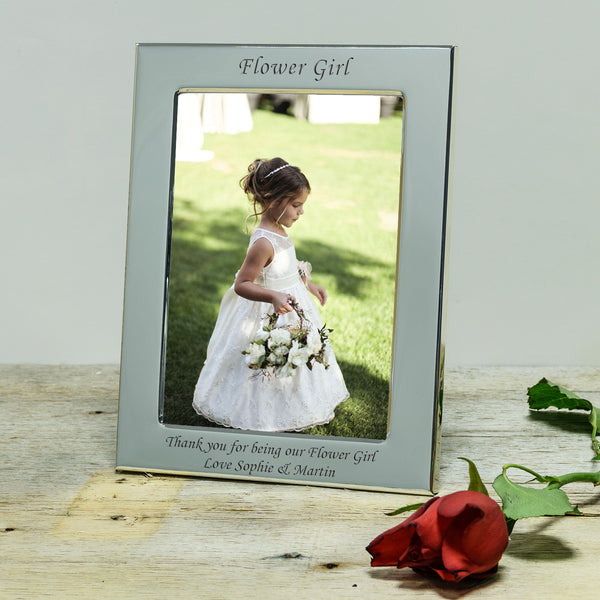 Page Boy & Flower Girl Engraved Silver Frame