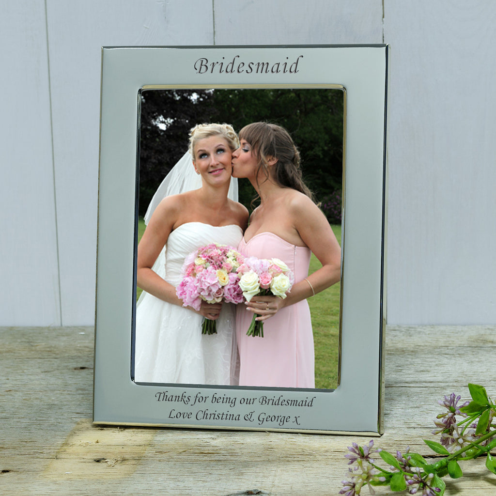 Wedding Party Engraved Silver Frame | With Love From – withlovefrom
