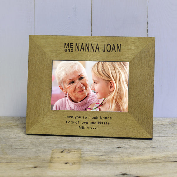 Me & Someone Special Engraved Wood Photo Frame
