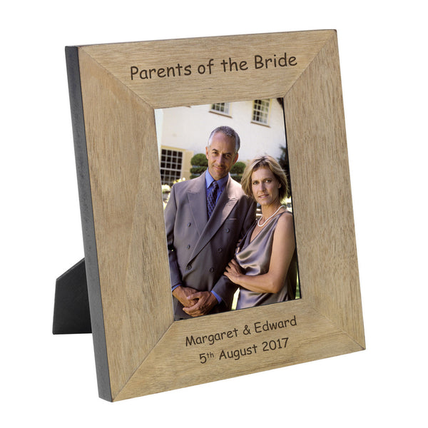 Parents of the Bride & Groom Engraved Wooden Frames