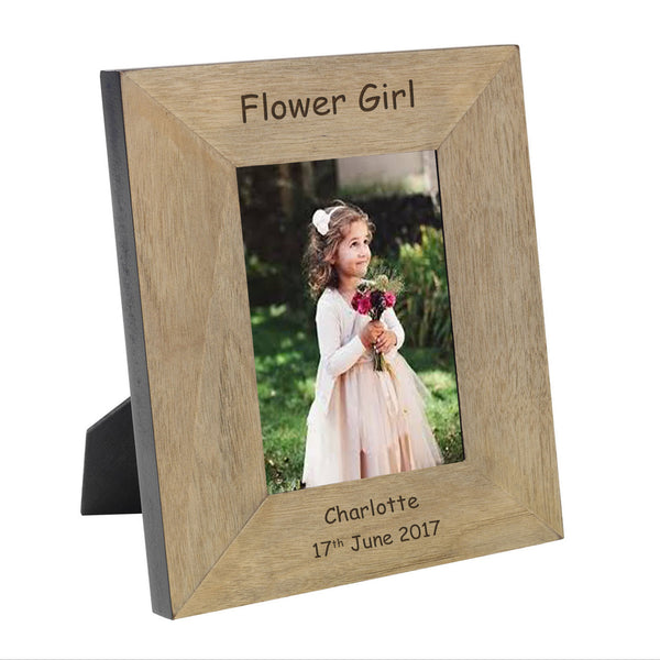 Page Boy & Flower Girl Engraved Wooden Frame