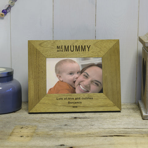 Me & Mummy Engraved Wood Photo Frame