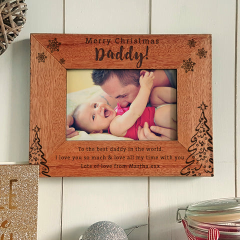 Merry Christmas Daddy Engraved photoframe