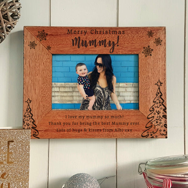 Merry Christmas Mummy Engraved photoframe
