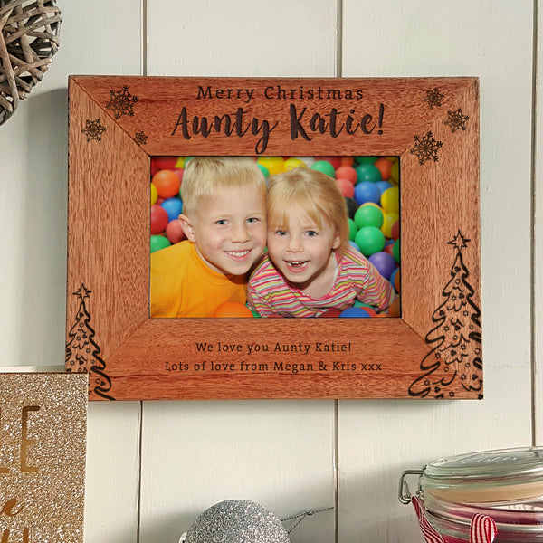 Merry Christmas Auntie Engraved photoframe